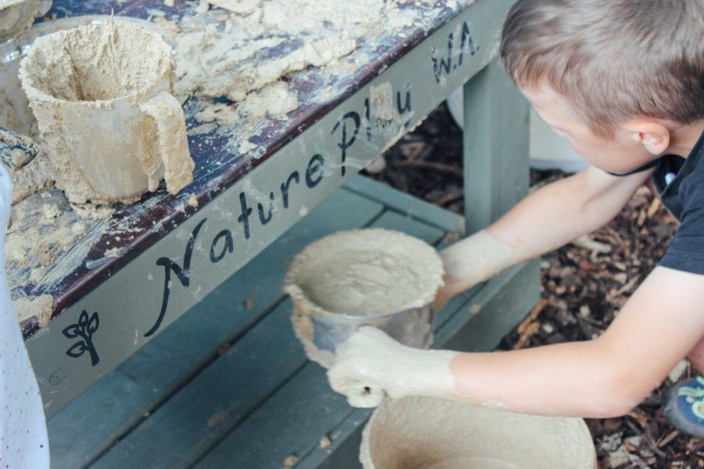 Nature Play WA mud kitchen